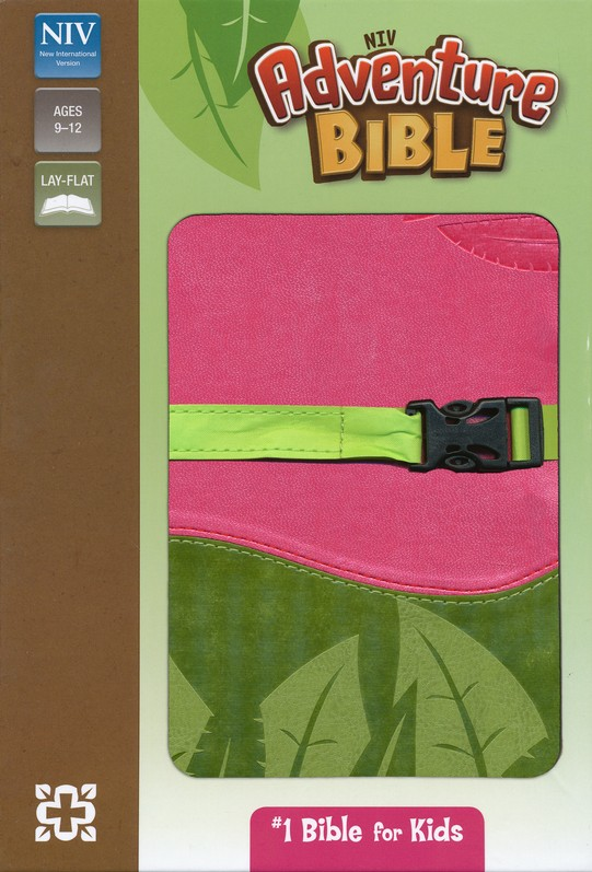 NIV Adventure Bible, Pink/Green with Clip Closure