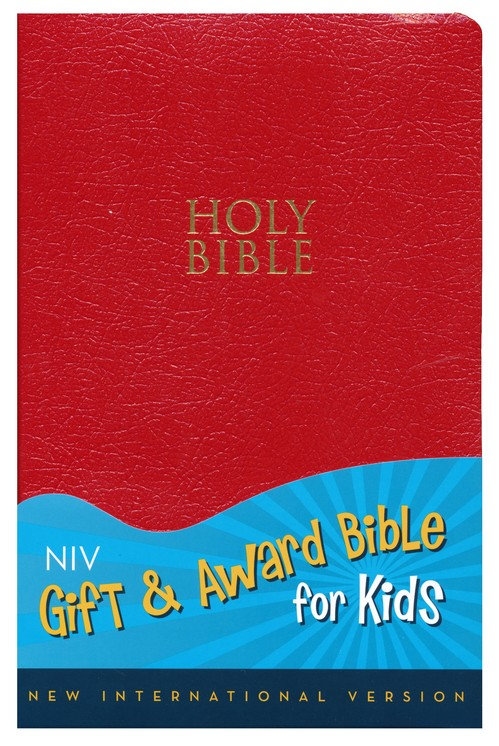 NIV Gift & Award for Kids, Red Leather-Look