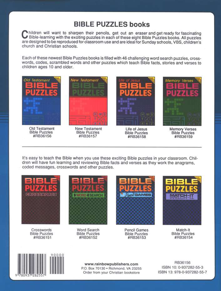 Bible Puzzles: Old Testament