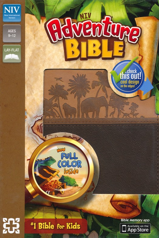 NIV Adventure Bible, Italian Duo-Tone, Chocolate/Toffee