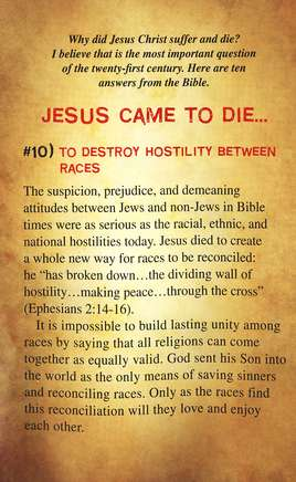 10 Reasons Jesus Came to Die (ESV), Pack of 25 Tracts