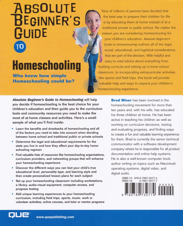 Absolute Beginner's Guide to Homeschooling
