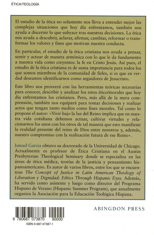 Introducción a la Etica Cristiana  (Introduction to Christian Ethics)