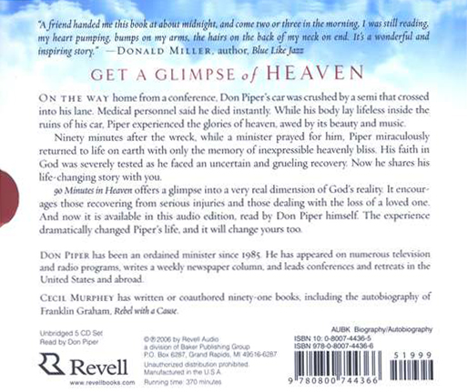 90 Minutes in Heaven, Audiobook on CD