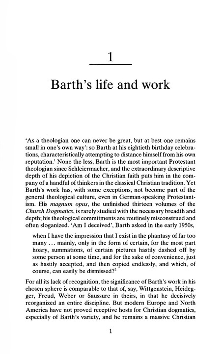 Karl Barth, Second Ed.