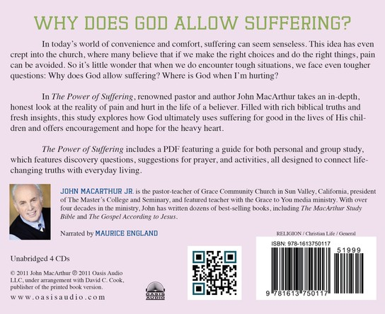 Power of Suffering Unabridged Audiobook on CD