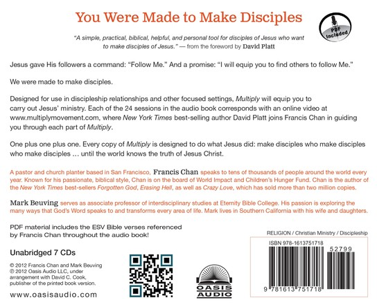 Multiply: Disciple-Making for Ordinary People Unabridged Audiobook on CD