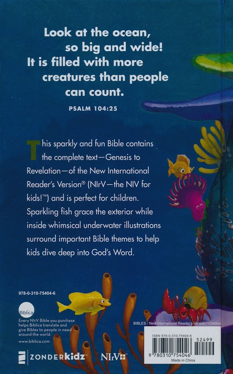 NIrV Under the Sea Holy Bible, printed hardcover