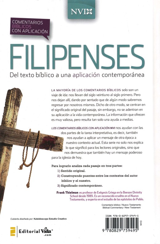 Comentario Biblico con Aplicacion NVI: Filipenses, eLibro  (NIV Application Commentary Series: Philippians)
