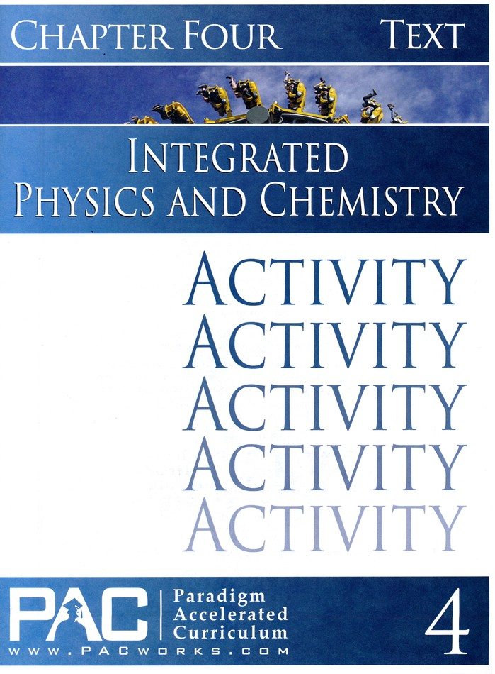Integrated Physics and Chemistry Activity Booklet, Chapter 4