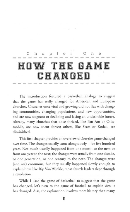 Should We Change Our Game Plan? From Traditional or Contemporary to Missional and Strategic