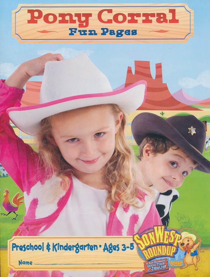SonWest Roundup: Pony Corral Fun Pages - Ages 3 to 6 / Preschool & Kindergarten