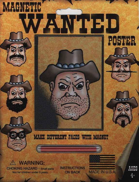 Magnetic Wanted Poster Carded Activity Game
