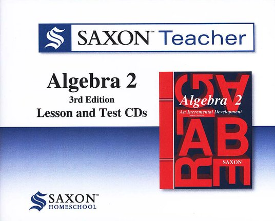 The Saxon Teacher for Algebra 2, Third Edition on CD-ROM