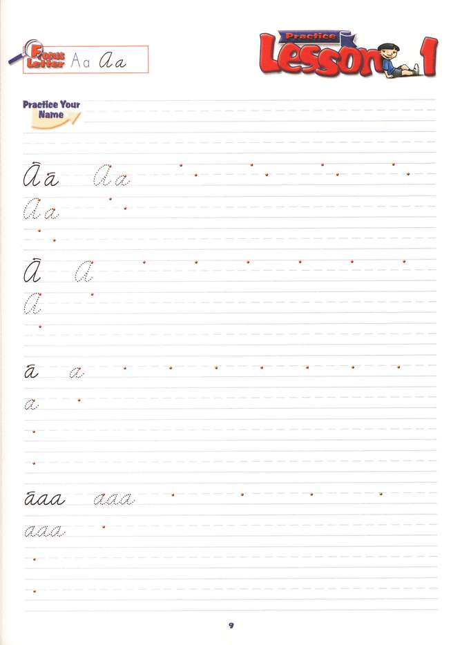 A Reason For Handwriting: Cursive C--Student Worktext, Grade 3