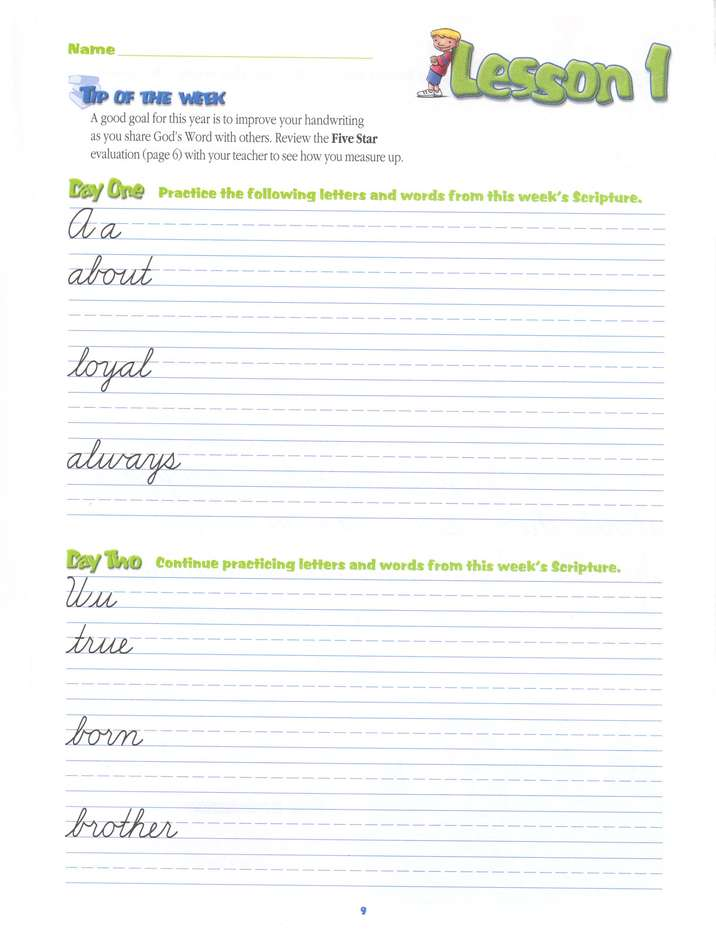 A Reason For Handwriting: Cursive F--Student Worktext, Grade 6