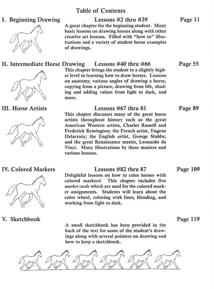 The Wonderful Art of Drawing Horses