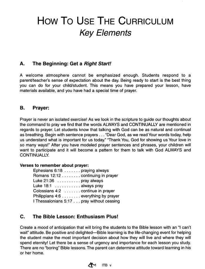 Bible Quest: In The Beginning (Genesis), Answer Key
