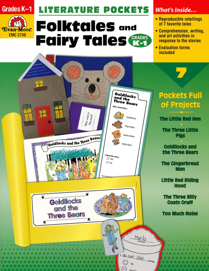 Literature Pockets: Folktales and Fairytales, Grades K-1