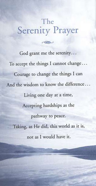 Serenity: Reflections and Scripture on the Serenity Prayer