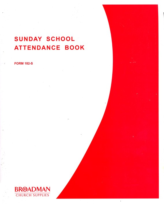 Sunday School Attendance Book, Form 182-S