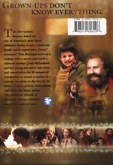 The Christmas Miracle of Jonathan Toomey, DVD