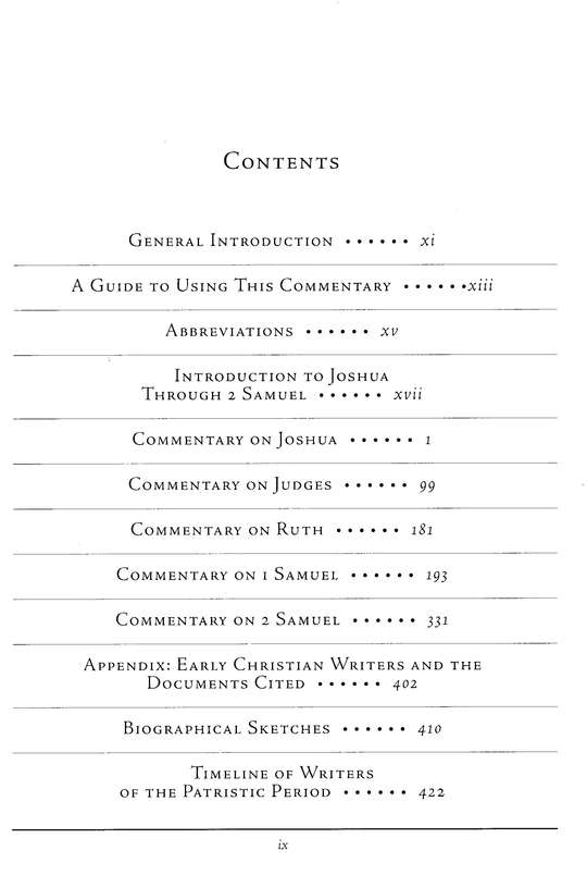 Joshua, Judges, Ruth, 1&2 Samuel: Ancient Christian Commentary on Scripture [ACCS]