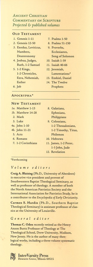 Psalms 1-50: Ancient Christian Commentary on Scripture [ACCS]