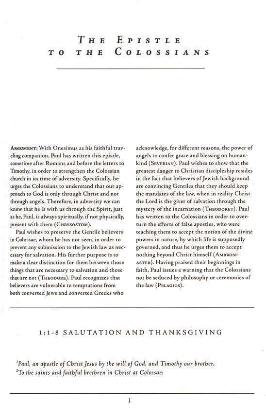 Colossians, 1-2 Thessalonians, 1-2 Timothy, Titus, Philemon: Ancient Christian Commentary on Scripture [ACCS]