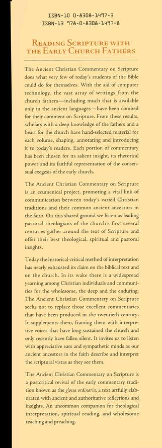 Revelation: Ancient Christian Commentary on Scripture  [ACCS]