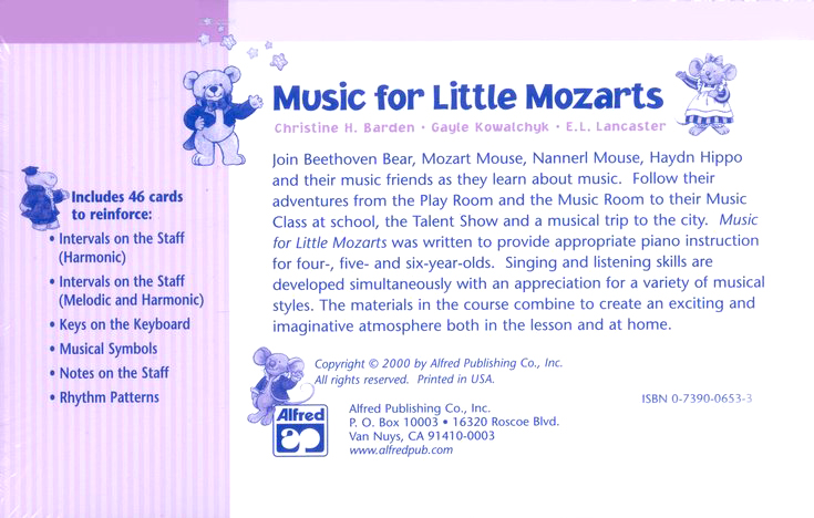 Music for Little Mozarts, Flash Cards for Book 4