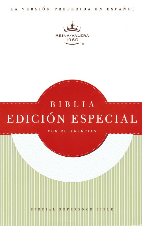 Biblia Especial con Referencias RVR 1960, Piel Fab. Blanca  (RVR 1960 Special Reference Bible, Bon. Leather White)