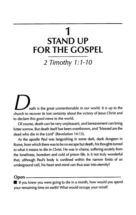 2 Timothy: Standing Firm in Truth, John Stott Bible Studies