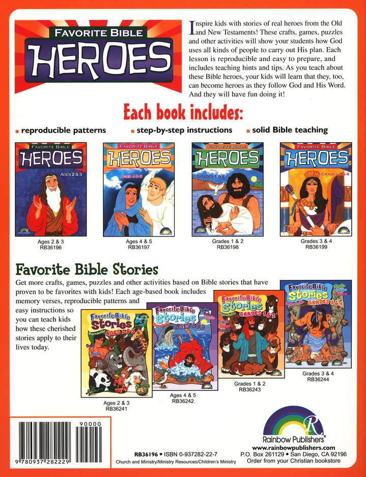 Favorite Bible Heroes, Ages 2-3