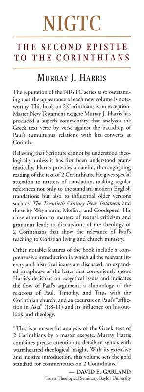 The Second Epistle to the Corinthians: New International Greek  Testament Commentary [NIGTC]