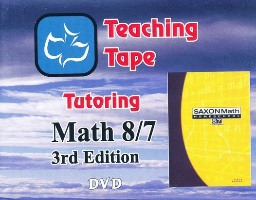 Teaching Tape Full Set DVDs: Saxon Math 8/7, 3rd Edition