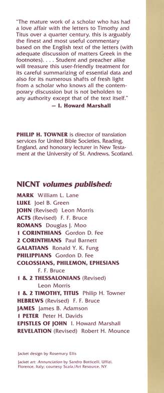 The Letters to Timothy and Titus: New International Commentary on the New Testament [NICNT]
