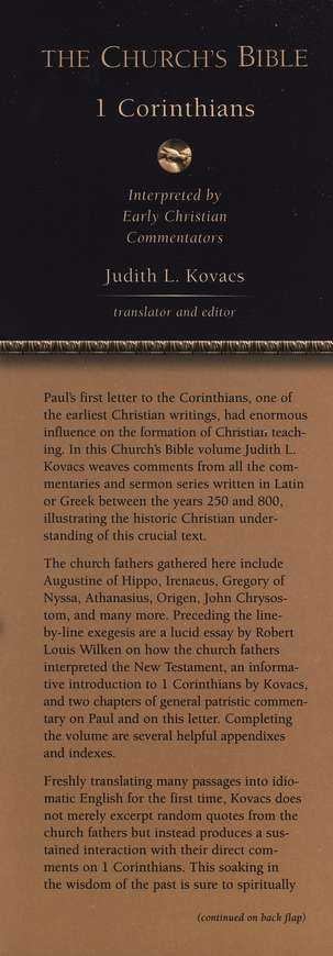 The Church's Bible: 1 Corinthians Interpreted by Early Christian Commentators