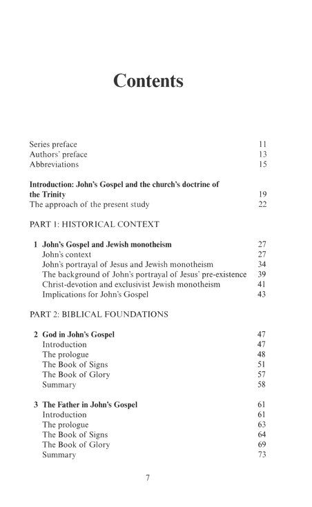 Father, Son, and Spirit: The Trinity and John's Gospel (New Studies in Biblical Theology)