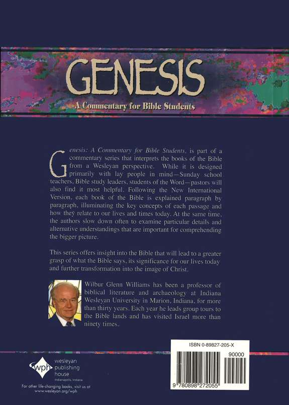 Genesis: A Bible Commentary in the Wesleyan Tradition