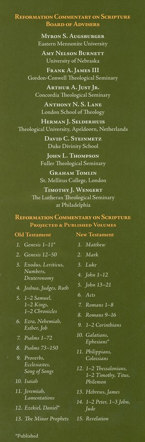 Genesis 1-11: Reformation Commentary on Scripture [RCS]