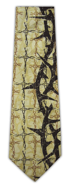 Thorns and Crosses Silk Tie