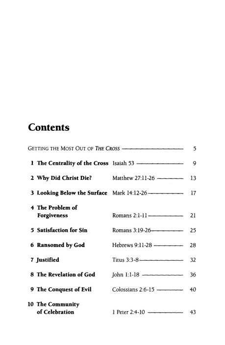 The Cross, LifeGuide Topical Bible Studies