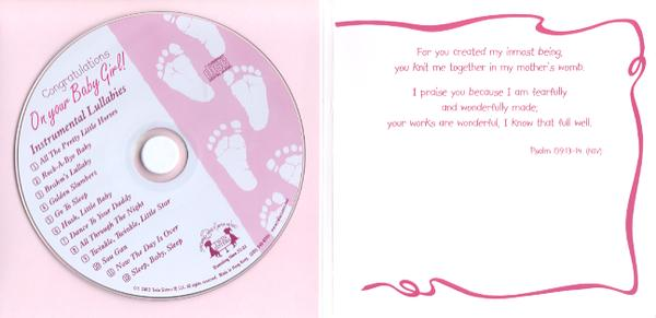 Congratulations On Your Baby Girl! CD Greeting Card
