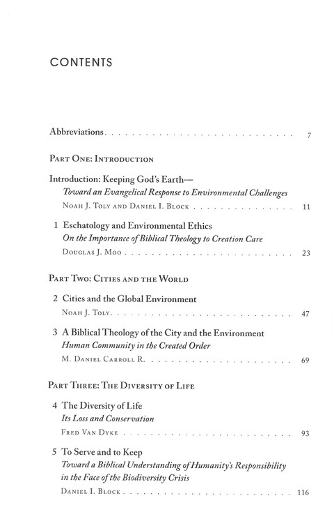 Keeping God's Earth: The Global Environment in Biblical Perspective