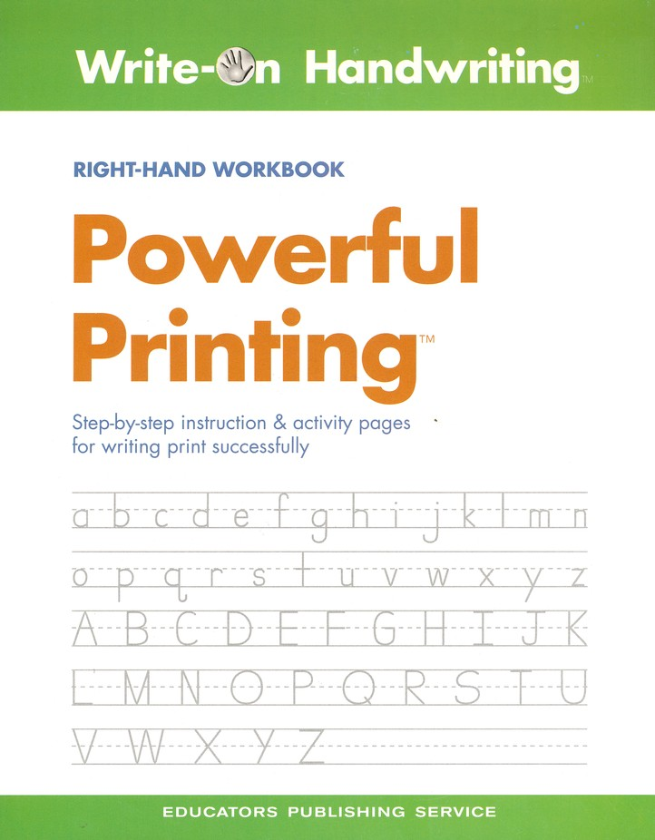 Powerful Printing Right-Handed Workbook