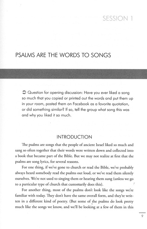 Psalms, Lamentations, Song of Songs: Understanding the Books of the Bible Study Guides