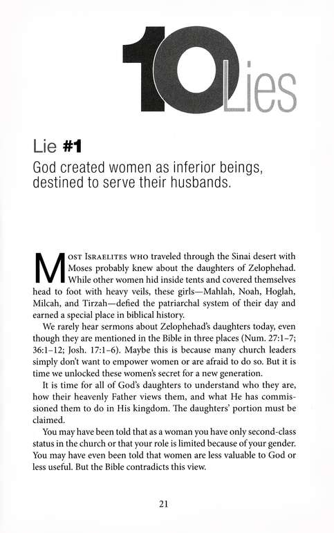 10 Lies the Church Tells Women, Revised
