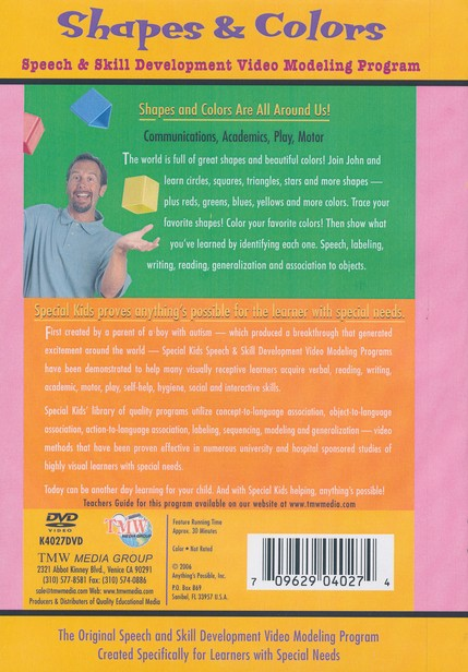 Shapes & Colors, DVD