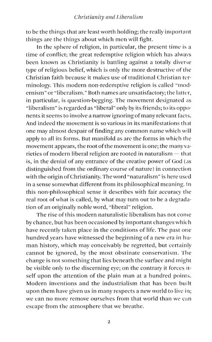 Christianity and Liberalism, Revised
